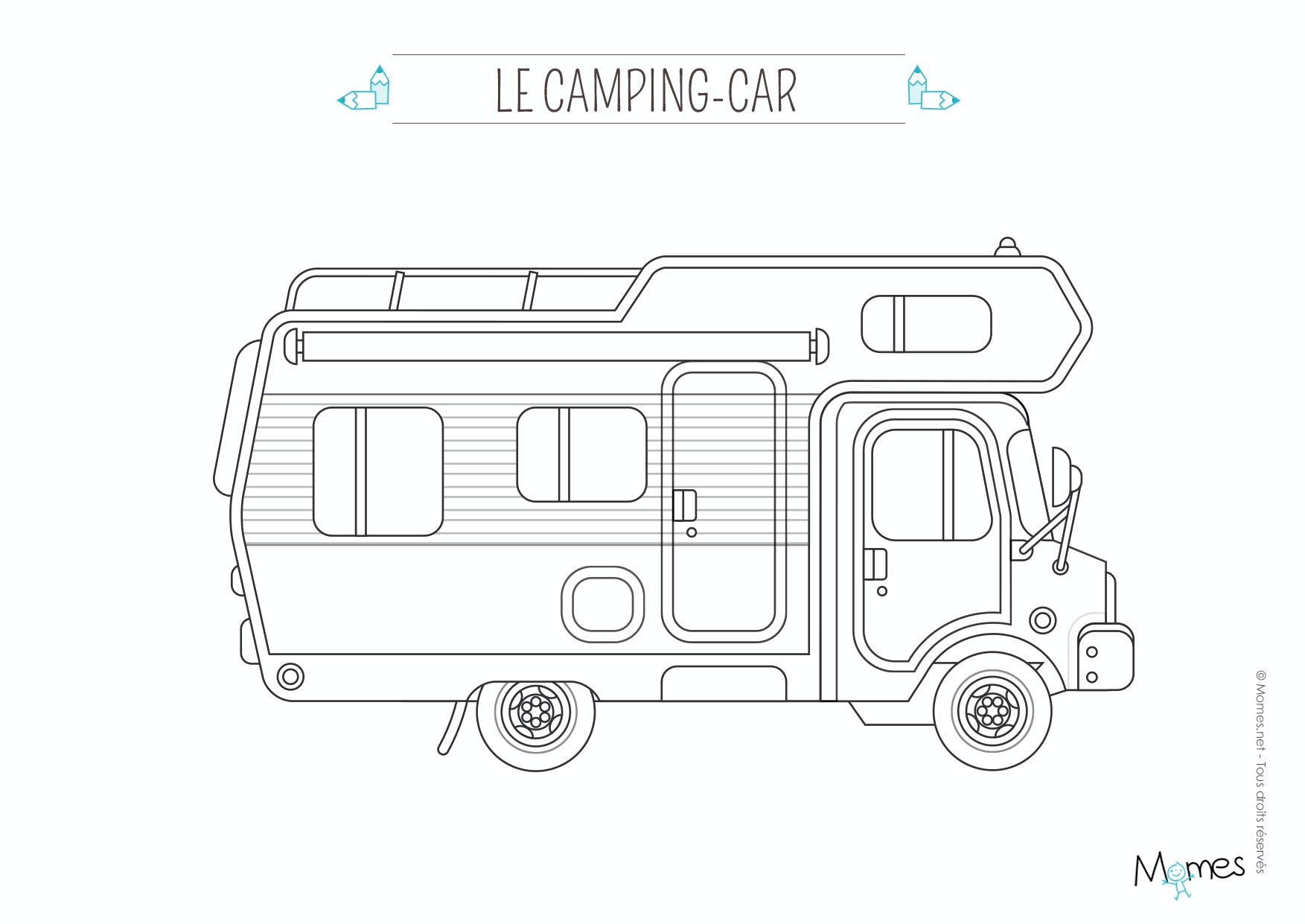 Coloriage Camping Car De Barbie