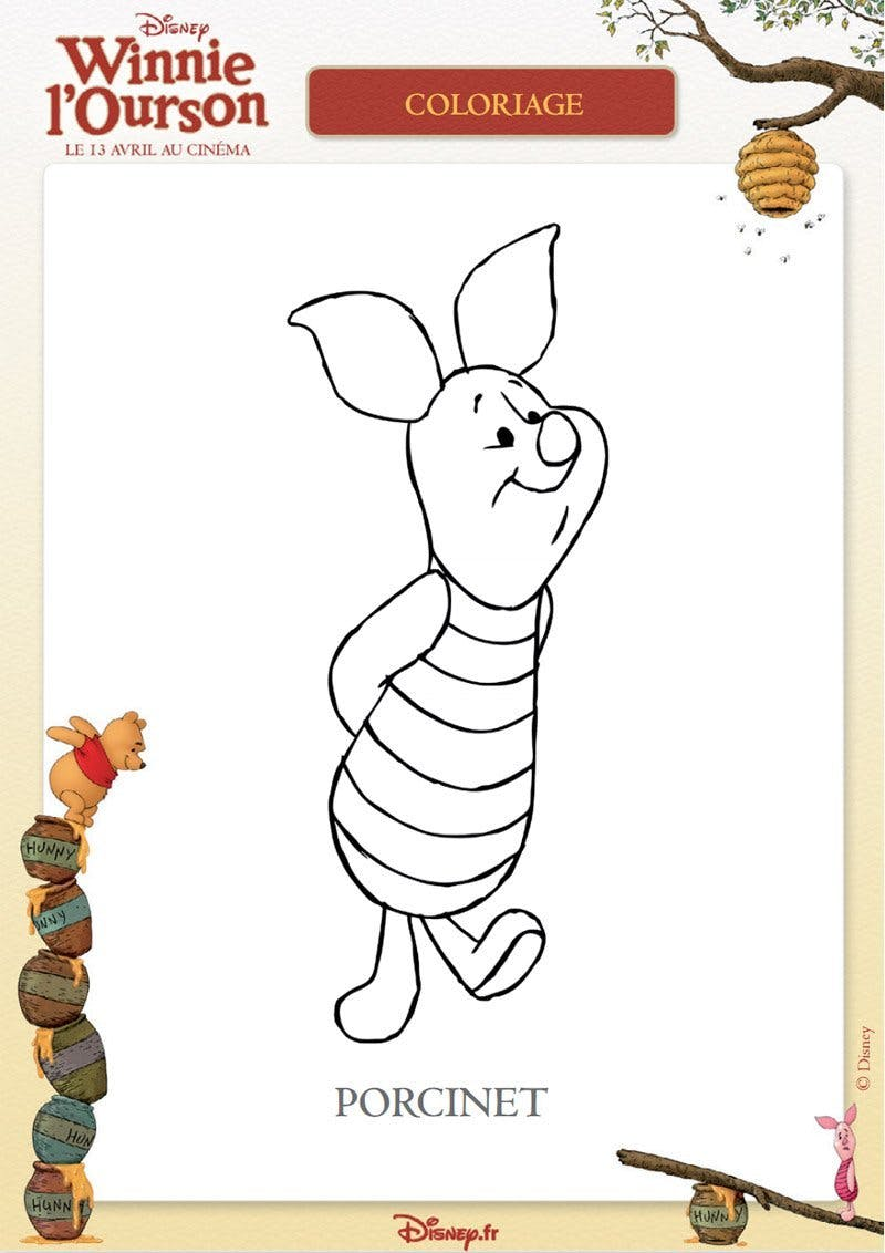 Coloriage winnie l 39 ourson 13 - Coloriage winni l ourson ...