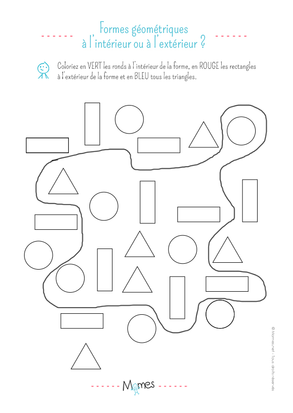 Colorier les formes géométriques : exercice