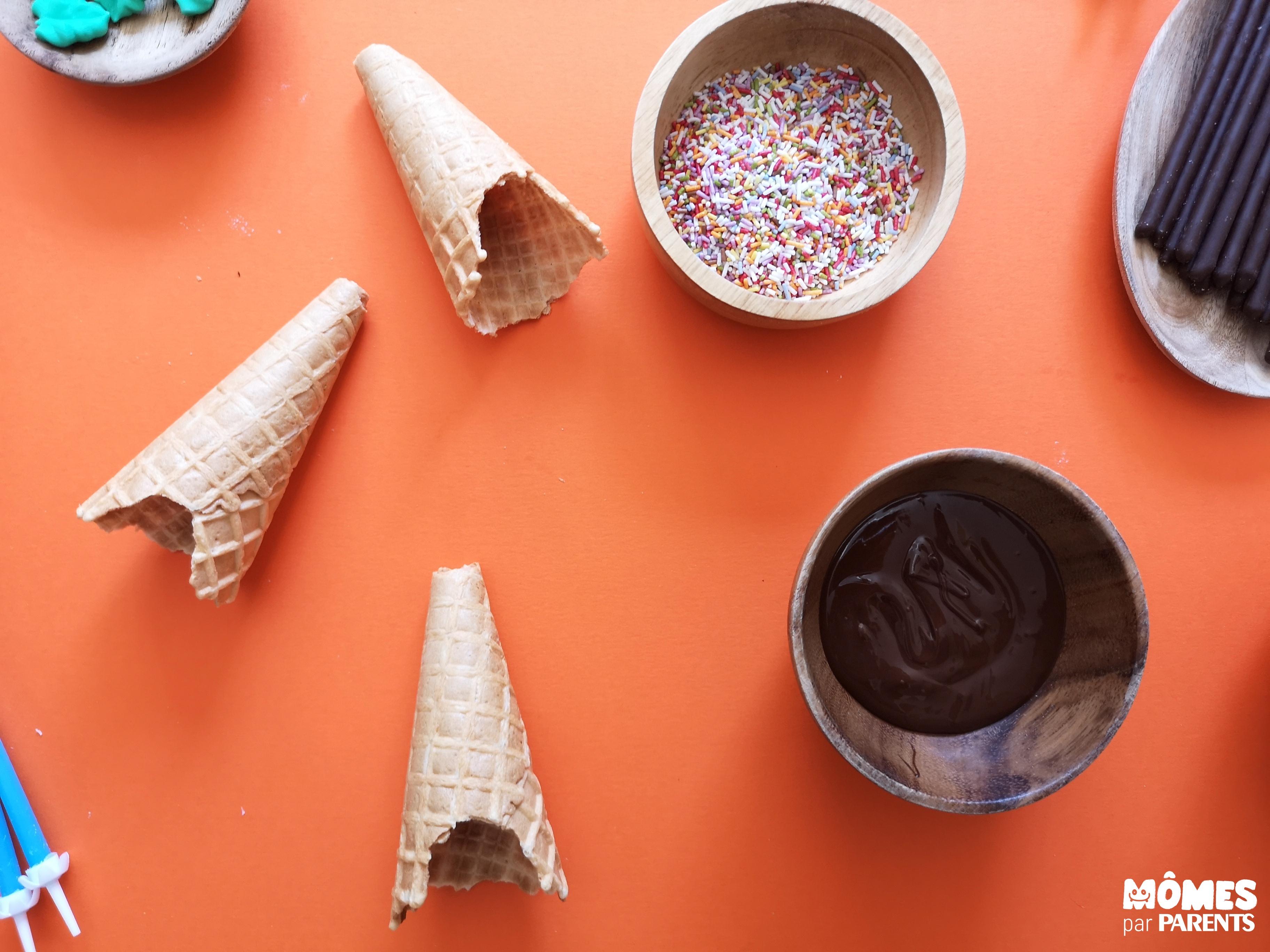cônes gâteau indien