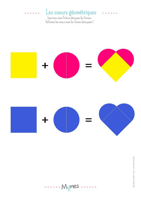 Construire un coeur avec des formes géométriques