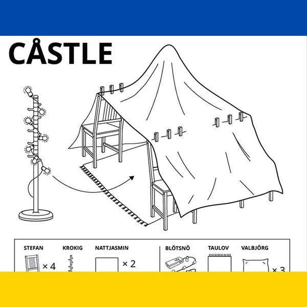 Coronavirus : Ikea propose 6 plans pour fabriquer des cabanes pour enfants avec ses meubles