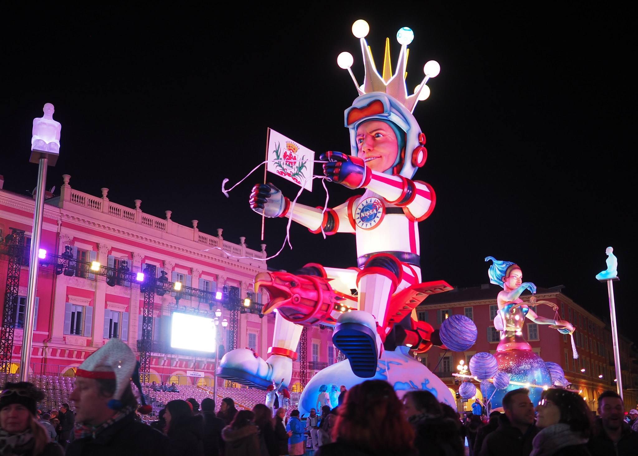 Corso illuminé du carnaval de Nice en 2018
