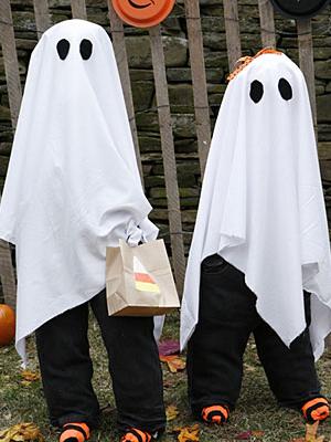 Costume d'Halloween: le fantôme