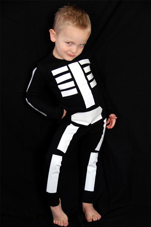 Costume d'Halloween: le squelette