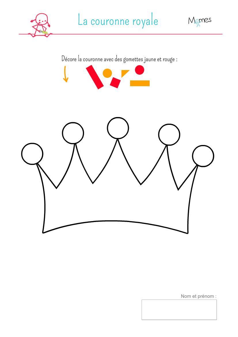 Couronnes f te des rois d corer - Couronne des rois a colorier ...