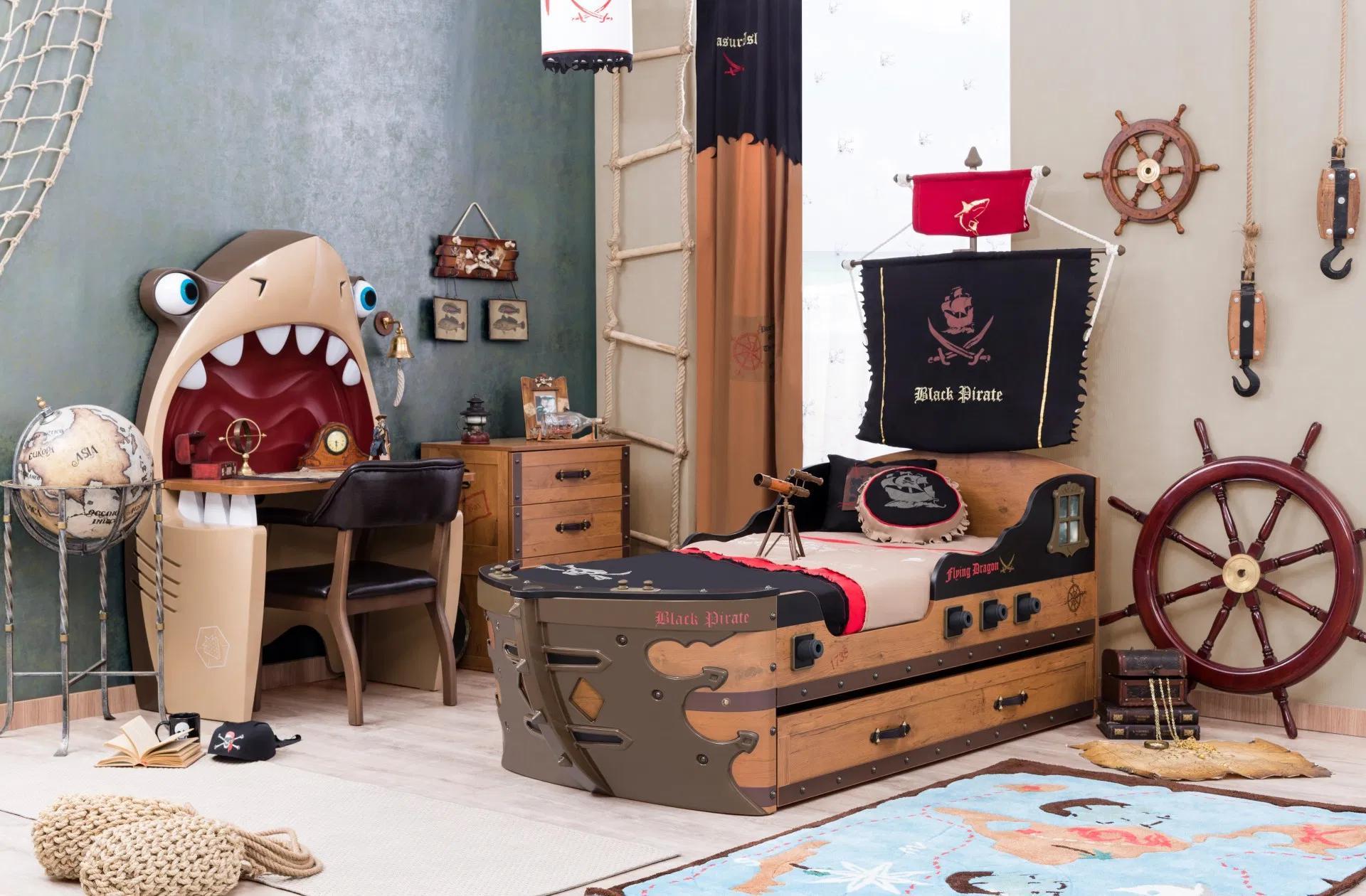 Déco de chambre pirate avec de nombreux détails
