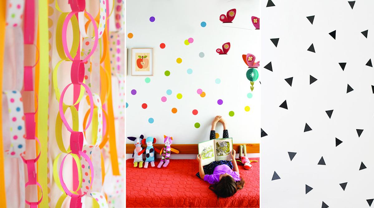 decoration en papier chambre enfant