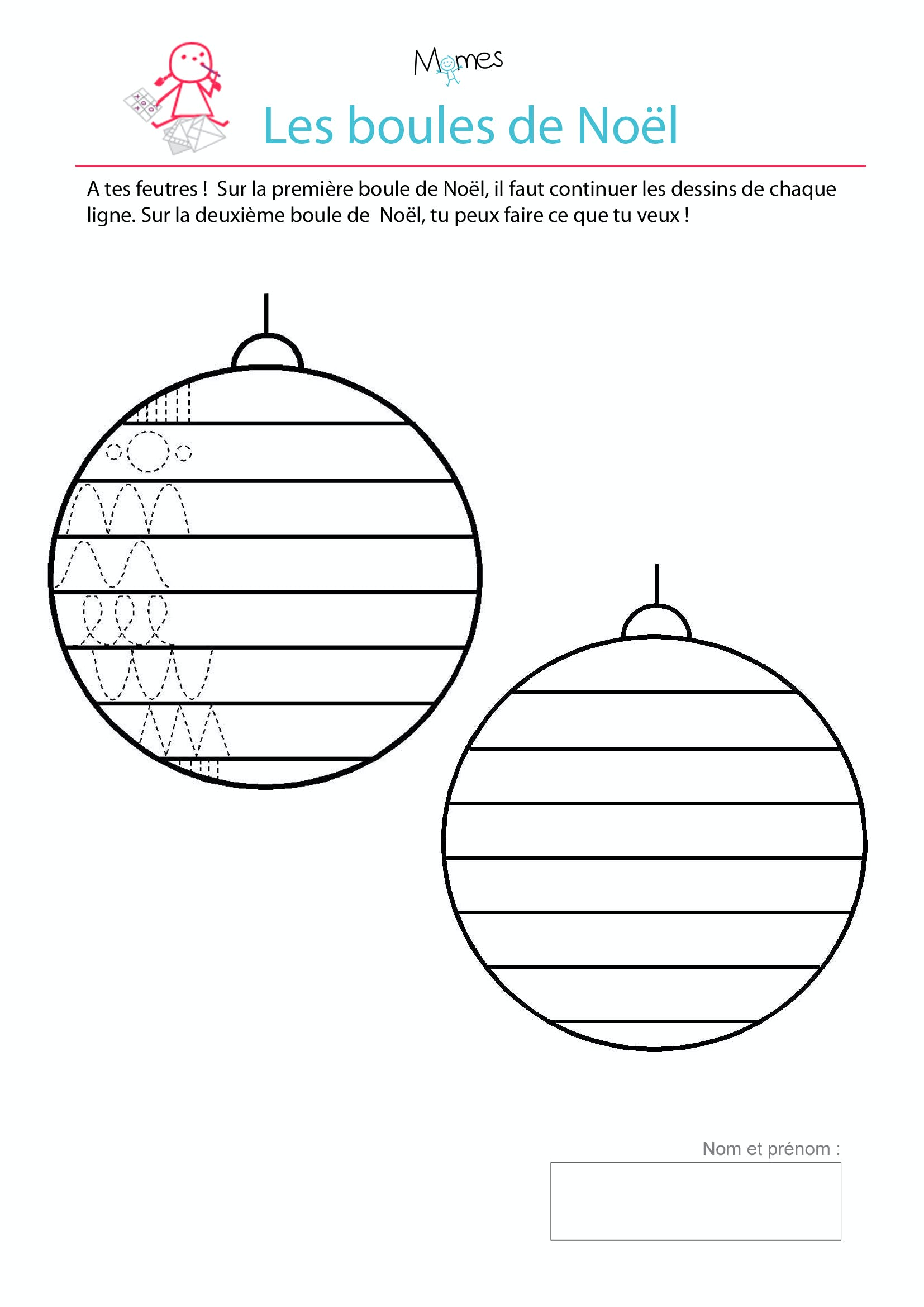 coloriage boules de noel pour maternelle. Black Bedroom Furniture Sets. Home Design Ideas