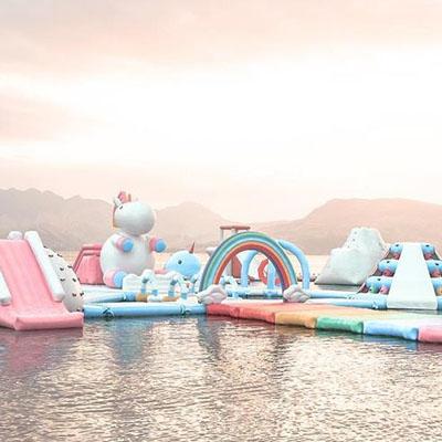 Découvrez Inflatable Island, l'incroyable île licorne !