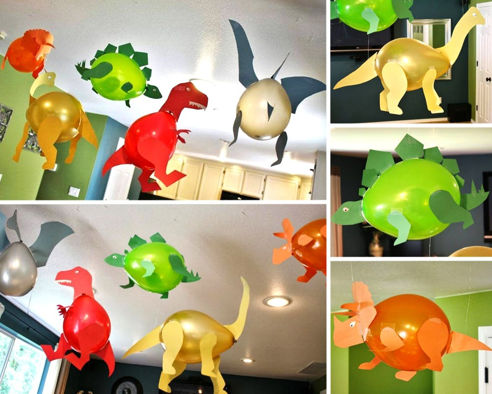 des ballons dinosaures. Black Bedroom Furniture Sets. Home Design Ideas