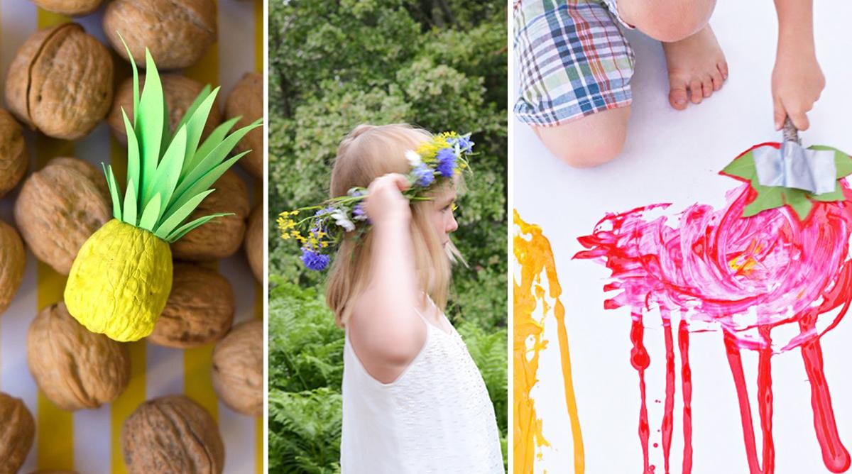 Des bricolages nature pour les enfants