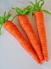 Des carottes en laine - Decoration bricolage faire soi meme ...