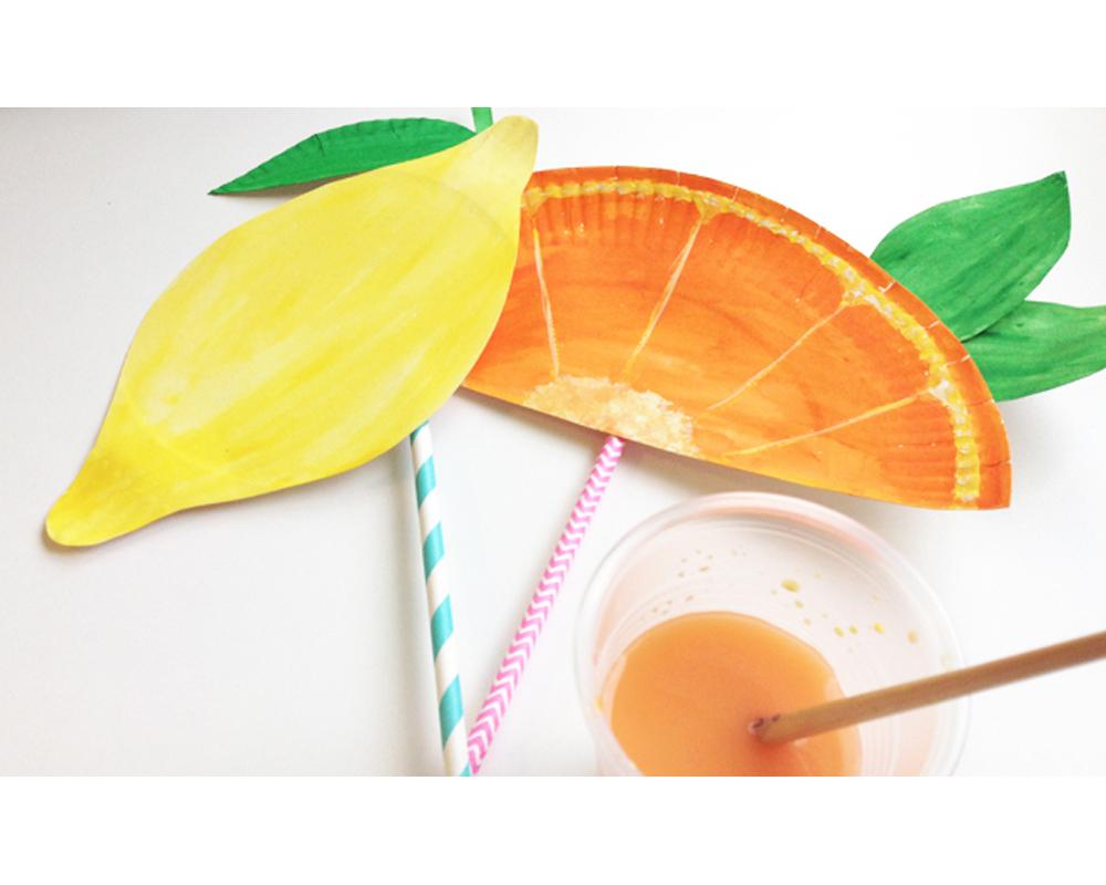 éventails fruités assiettes en carton