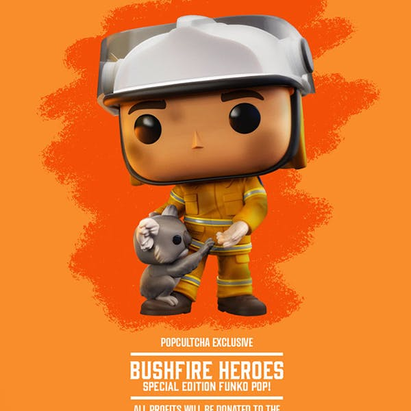 funko pop figurine pompier koala australie feu