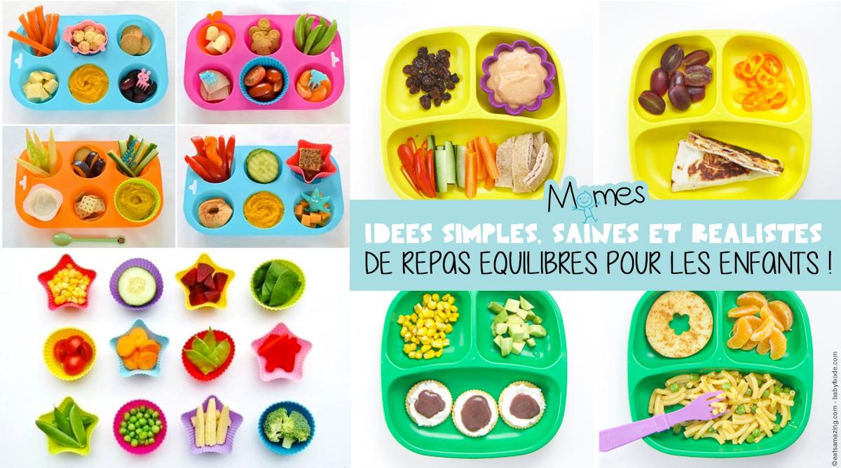 repas équilibré enfant