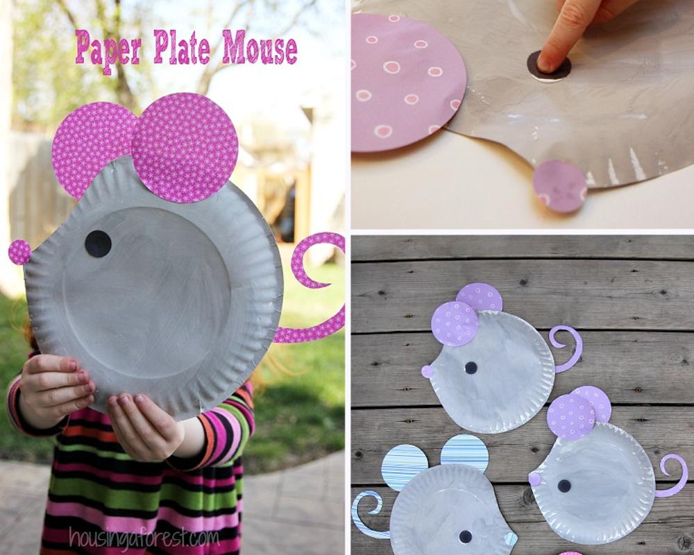 bricolages souris assiettes en carton