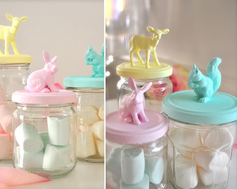 idées cadeaux Noël DIY faire soi-même bricolages des pots animaux colorés