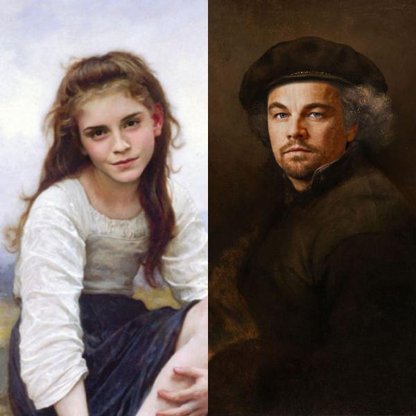 Des stars actuelles dans 30 peintures classiques !
