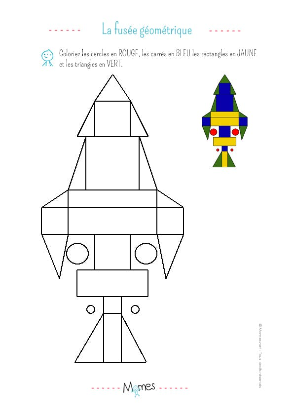 Dessin g om trique exercice niveau 1 - Dessin geometrique a colorier ...