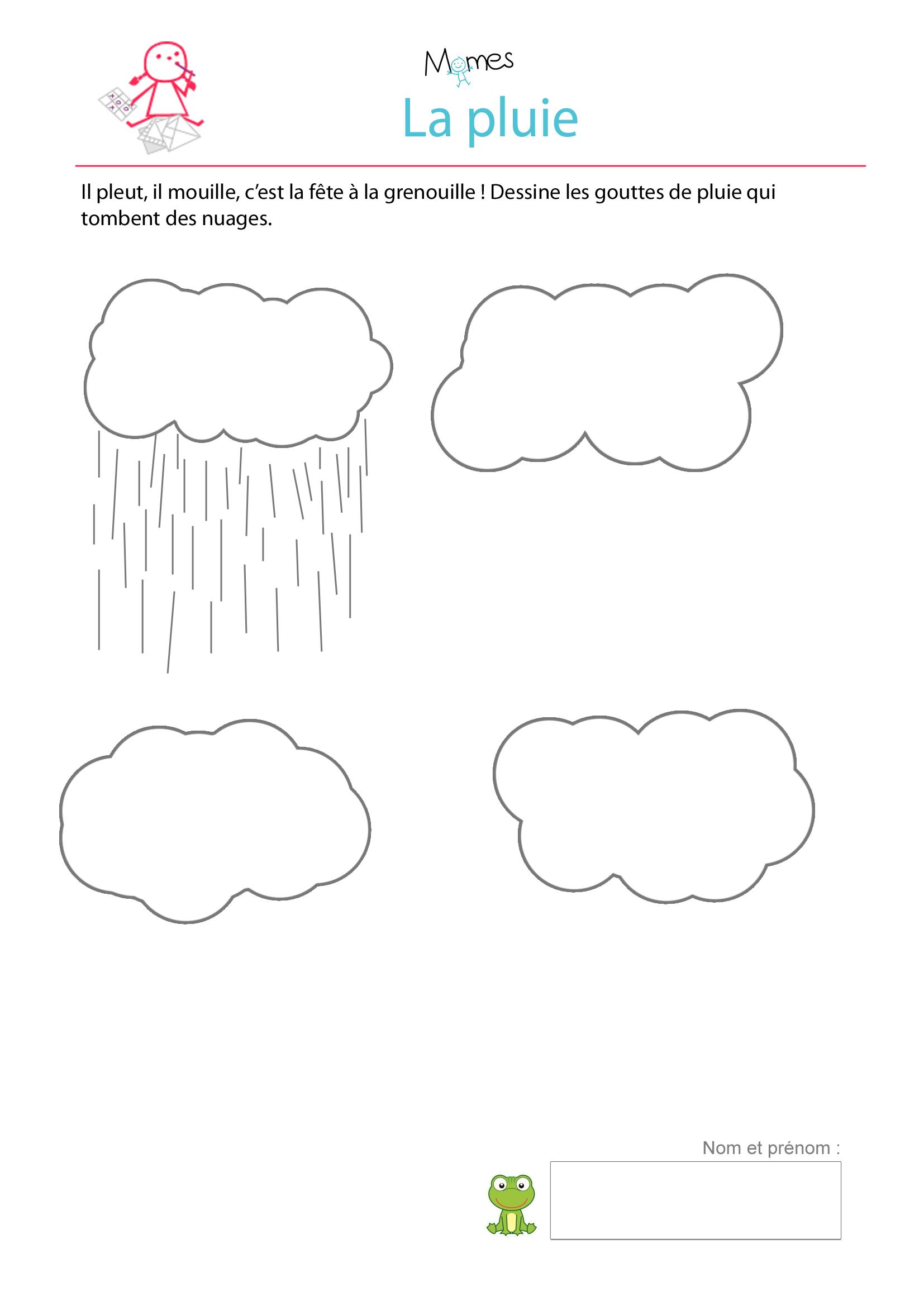 nuage pluie a dessiner