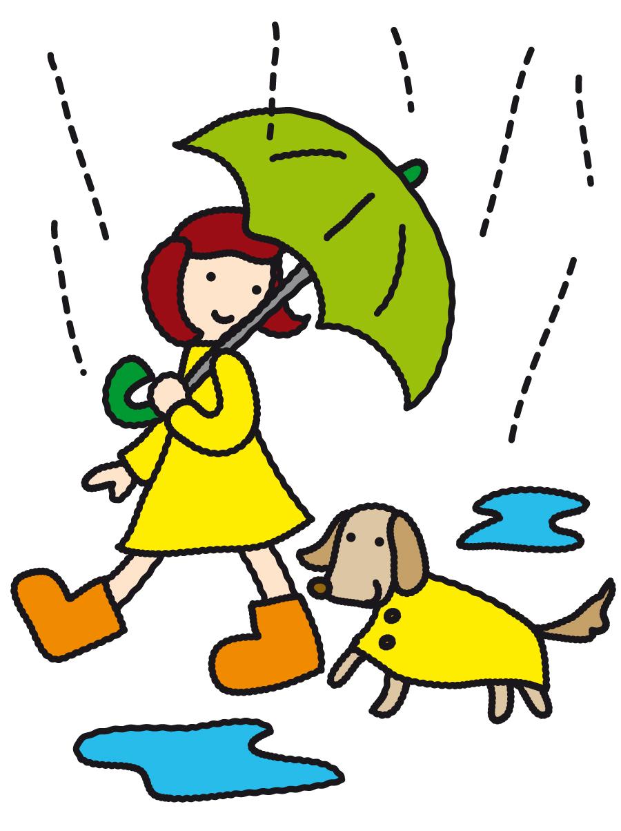 Dessine les parapluies - exercice à imprimer