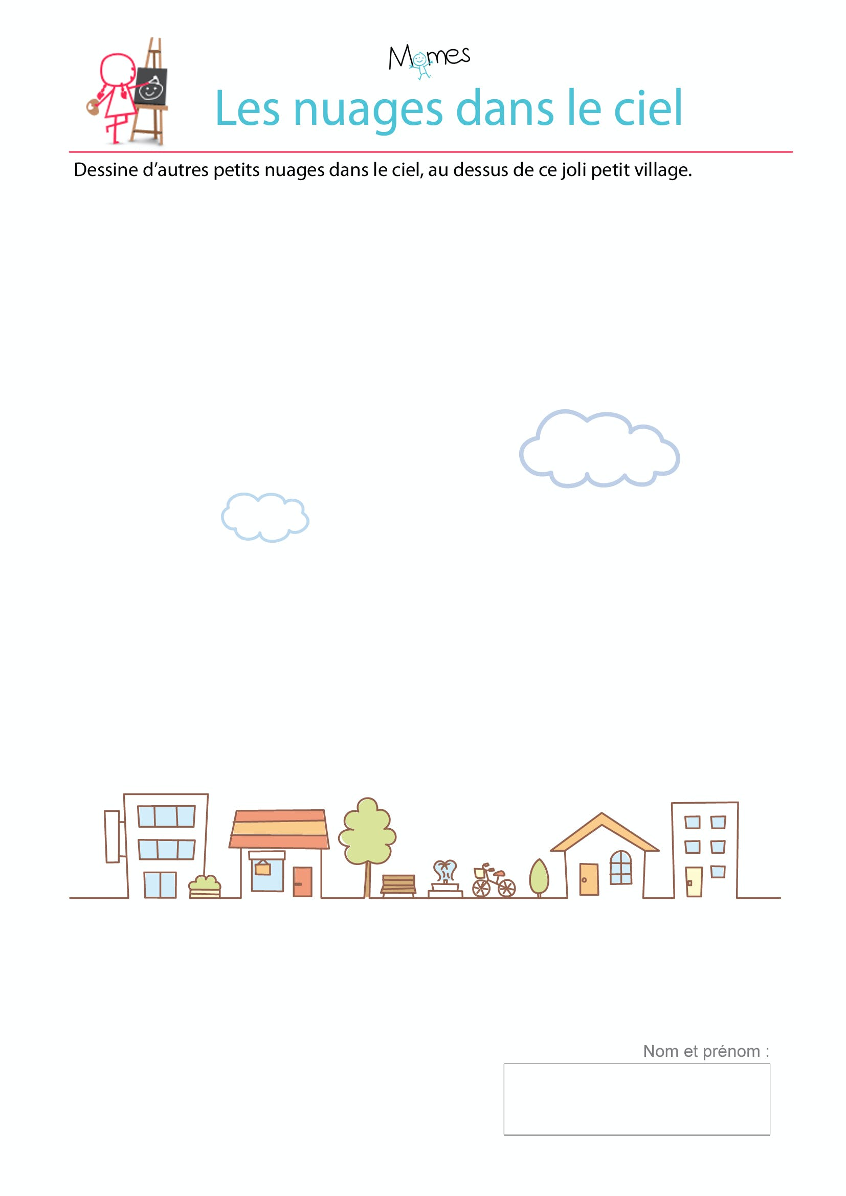 exercice dessin nuage