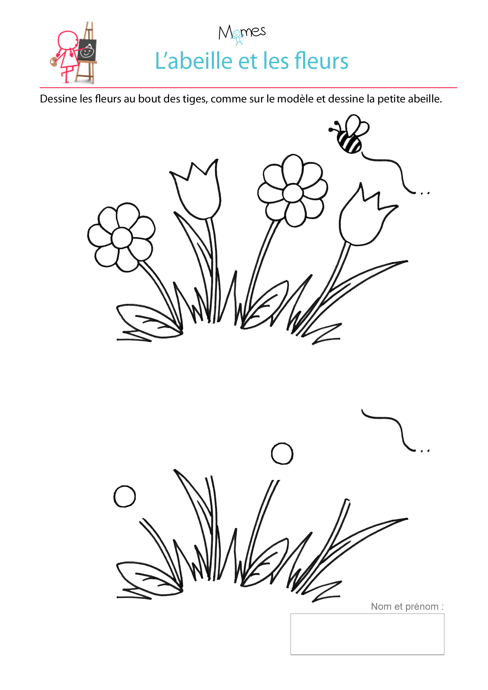 fleur dessin maternelle