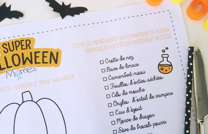 decoration table halloween enfant