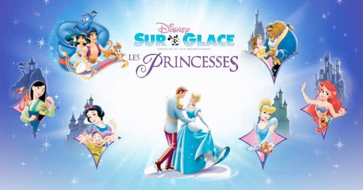 Affiche Disney sur glace - Les princesses