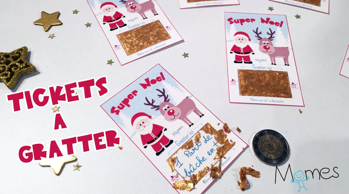 Les tickets à gratter pour Noël - Do it Yourself