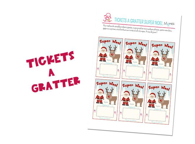 Assez DIY : Les tickets à gratter pour Noël - Momes.net QF56