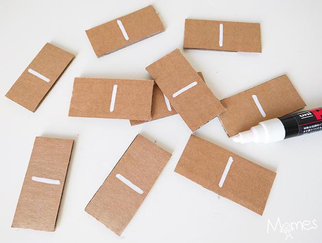 fabriquer un jeu de domino