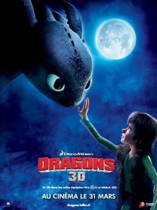Affiche Dragons 3D