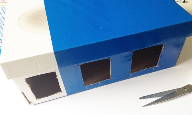 Fabriquer une cole dans un carton - Fabriquer une boite a bijoux avec une boite a chaussure ...