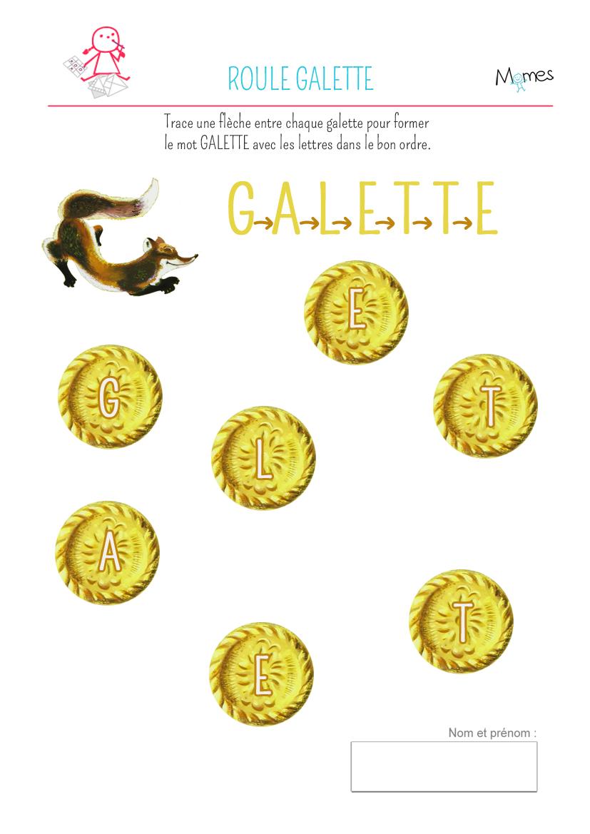 Ecrire le mot galette - Personnages de roule galette ...