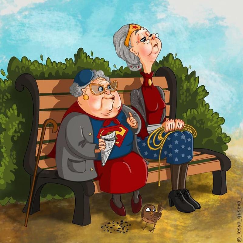 super héros vieux dessins Lesya Guseva