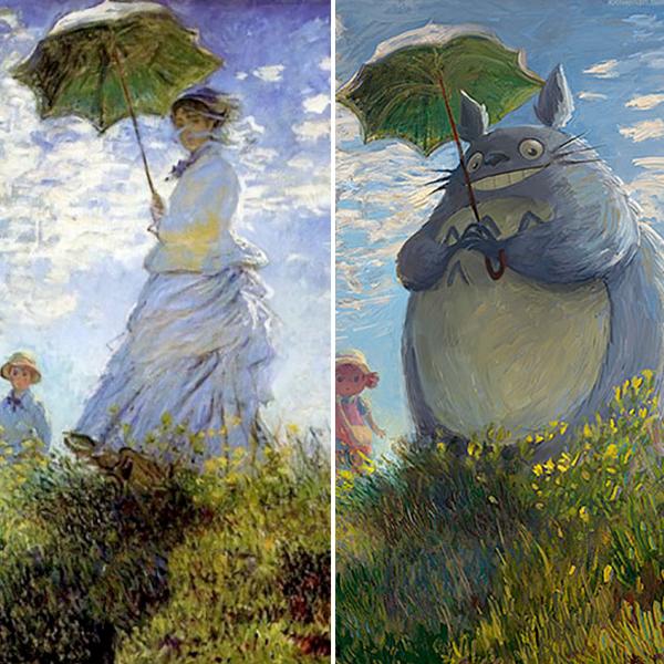 Lothenan Andrea Tamme transforme peintures classiques en œuvres geek pop culture