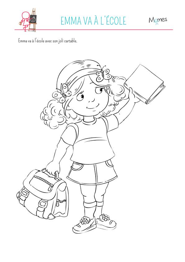 Emma va à l'école
