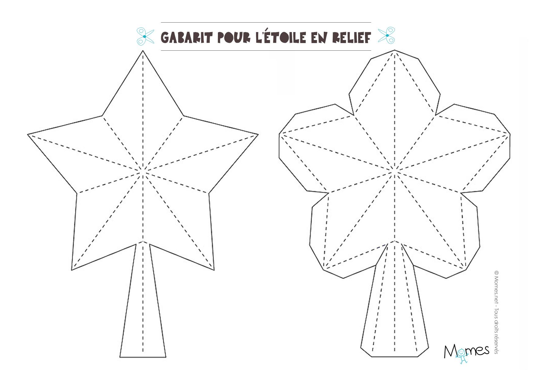 modele etoile relief