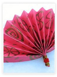 Eventail chinois en papier