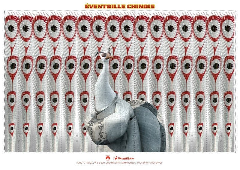 Eventail chinois - Kung-Fu Panda