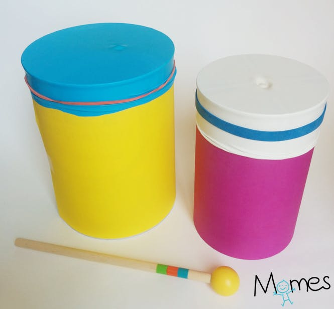 fabriquer tambour maternelle