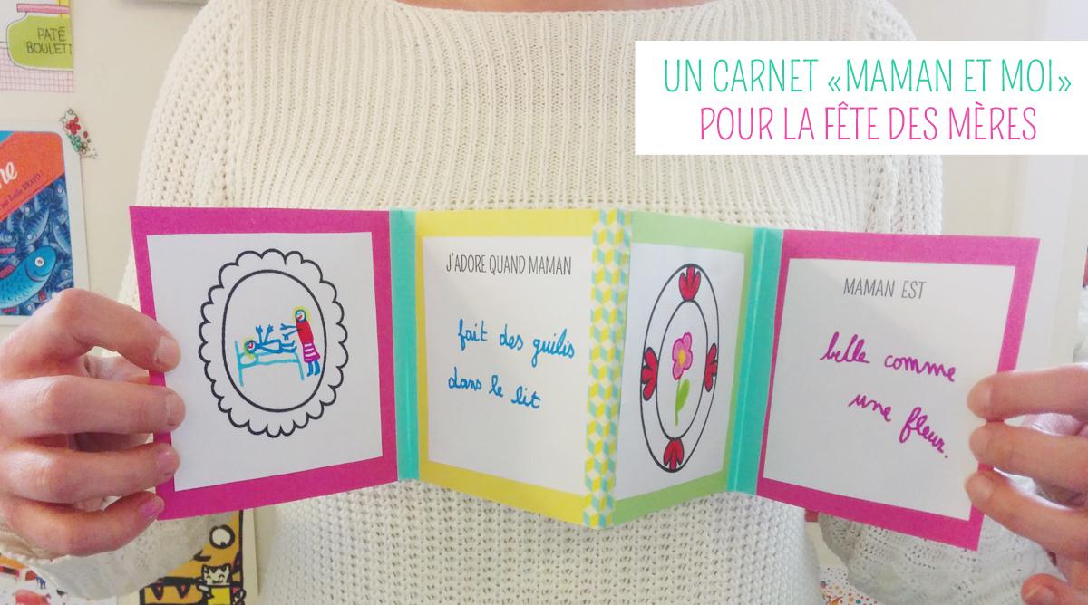 Cadeau A Fabriquer Pour Noel Pour Maman.Un Carnet Accordéon Pour La Fête Des Mères Momes Net