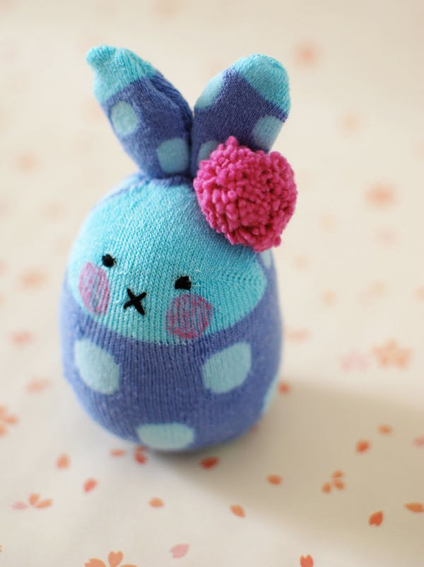 chaussette lapin