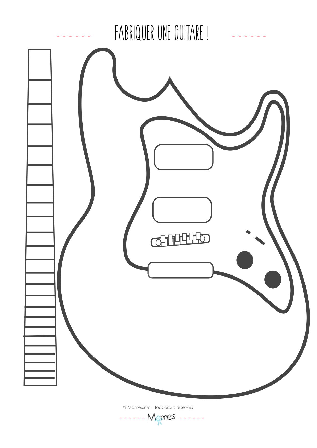 Pin coloriage d une guitare lectrique on pinterest - Fabriquer une cheminee en carton ...
