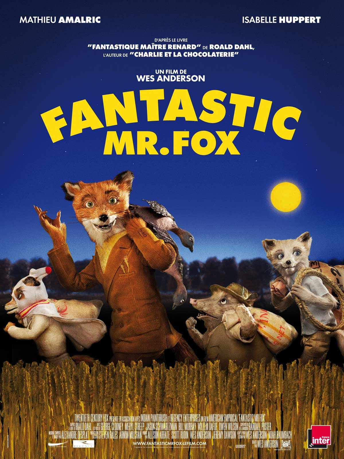 Affiche Fantastique Mr Fox