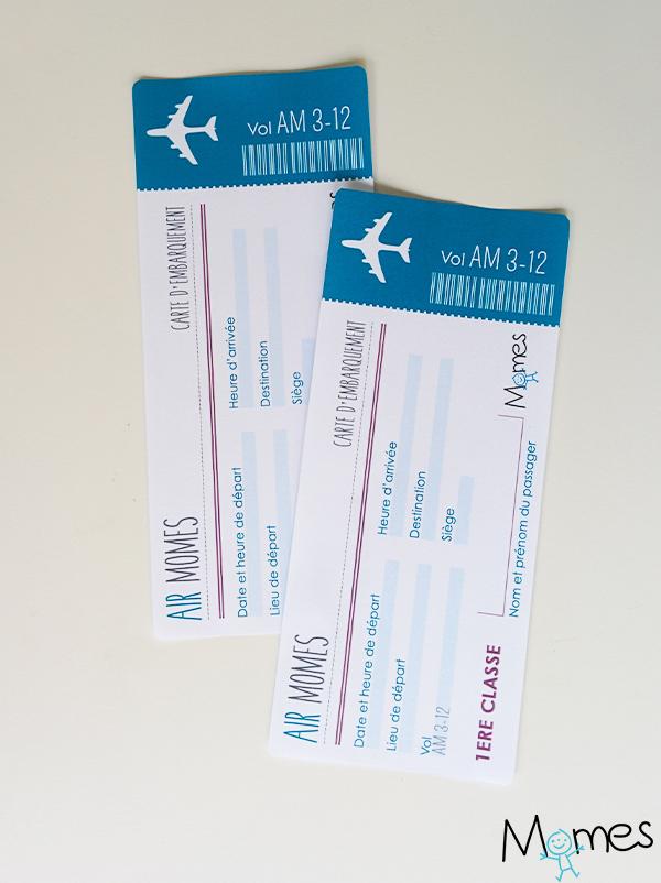 Préférence Faux billet d'avion à imprimer - Momes.net WE28