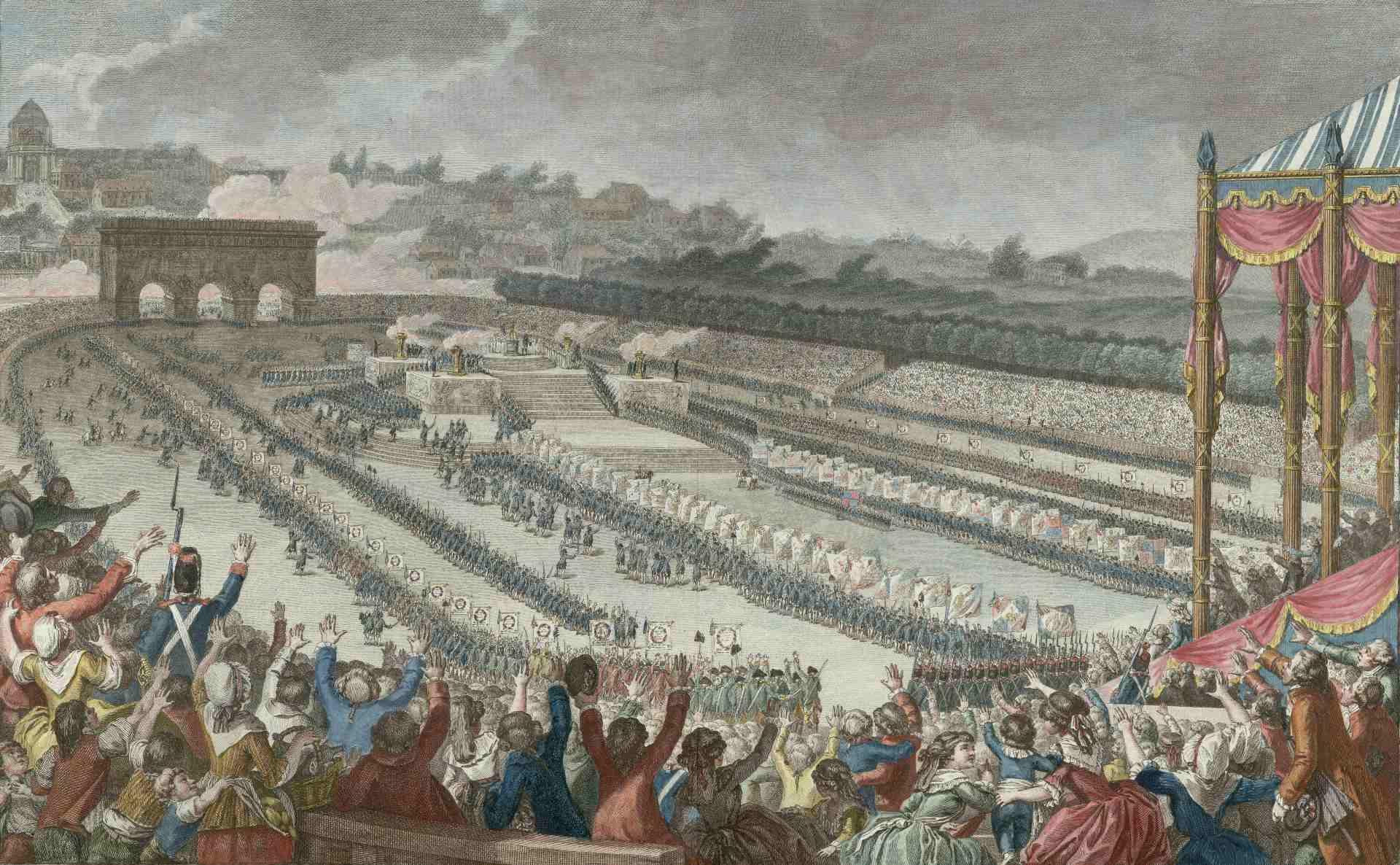 Fédération générale des Français au Champ de Mars, le 14 juillet 1790