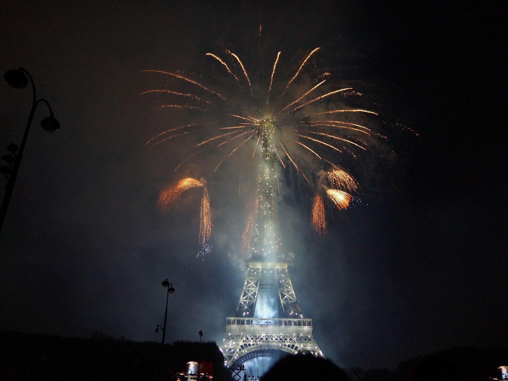 Feu d'artifice à Paris lours du 14 Juillet